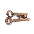 Vintage Alloy Cast Puzzle Box Metal Lock Toys IQ Mind Brain Teaser Game Key Lock