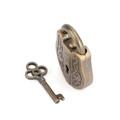 Vintage Metal Cast God Lock Key Puzzle Toy IQ&EQ Mind Brain Teaser Kid Gift