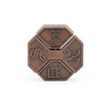 Vintage Alloy Cast Puzzle Box Metal Lock Toys IQ Mind Brain Teaser Game Box Lock