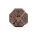 Vintage Alloy Cast Puzzle Box Metal Lock Toys IQ Mind Brain Teaser Game Box Lock