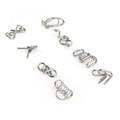 Metal Wire Puzzle Game IQ Test MIND Brain Teaser Toys Magic Ring Gift A+B+C