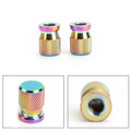2pcs CNC Burnt Titanium Tire Valve Cap Cover Wheel Decoration Accessories