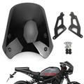 ABS Plastic Windshield For Yamaha XSR900 16-19 Black