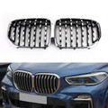 Front Kidney Diamond Grille For X5 SUV 30d,40i,50i,M50d 2019-Present Chrome