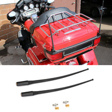 "2pcs 13"" Motorbike Radio Antenna Masts AM FM XM For Electra Glides, Road Glides, Street Glides, Tour Glides & '09-'19 Trikes (except Freewheeler)AM/FM/WB or CB Applications 89-19"