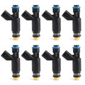 8 Set Fuel Injectors For GMC Yukon XL 1500 02-06 Sierra 1500 02-07 Savana 1500 07 Black