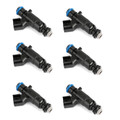 6 Set Fuel Injectors For Buick Cadillac 3.6L 0280156131 12571159 Durable Black