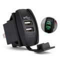 Dual USB Socket Charger for UTV Can Am Polaris RZR Ranger 900 1000 XP 750 Green
