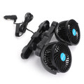 12V Dual Head Cooling Oscillating Seat Ventilation Air Fan Black