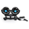 12V Electric Auto Cooling Fan Dual Head Stepless Speed Rear Seat Air Fan Car Fan