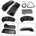 """6x9"""" Saddlebag Speaker Lids For Harley Touring Saddlebags 93-13 Black"""