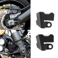 Front + Rear ABS Sensor Guard Cover for Yamaha Tracer 900 Tracer 900GT FJ-09 15-19 Black