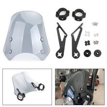 ABS Plastic Windscreen Windshield for Harley FXST Softail 05-11 FXSTB 00-09 FXSTC 07-10 FXSTD 01-07 FXS Blackline 11-13 FXDB 06-19 FXDL 96-18 Gray