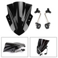"Universal 7/8"" 22mm Handlebar ABS Plastic Motorcycle Windshield WindScreen Black"