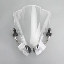 "Universal 7/8"" 22mm Handlebar ABS Plastic Motorcycle Windshield WindScreen Clear"