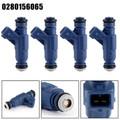 4PCS Fuel Injector 0280156065 For Audi A4 Quattro 1.8L Turbocharged 01-05 A4 01-06 Blue
