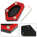 Kickstand Sidestand Enlarge Plate Pad for TRIUMPH TRIPLE S/R 16-19 TRIPLE RS 18-19 765 RS 18-20 Red
