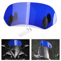 Universal 21CM Adjustable Clip On Windshield Extension Spoiler Wind Deflector Blue