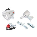 12V 6W Motorized Bicycle Friction Generator Headlight Tail Light Kit