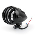 """5 1/2"""" Bullet Headlight Lamp For Cafe Racer Bobber Chopper Custom Black"""