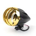 """5 1/2"""" Bullet Headlight Lamp For Cafe Racer Bobber Chopper Custom BlackG"""