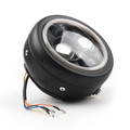 """6.5"""" Projector LED Headlight w/Blue Halo Ring For Cafe Racer Bobber Yellow"""