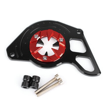 Front Sprocket Chain Guard Cover Left Side Engine for Honda MSX125 13-15 MSX125SF 16-19 Red