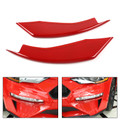 Bumper Vent Winglets Fog Light Canard Trim For Ford Mustang 2018-2019 Red