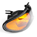 Right Front Indicator Turn Signal Yellow Corner Light Fit For BMW 3 Series E46 02-05 Black+Yellow