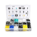 730PCS Car Body Nylon Fiber Push Pin Rivet Retainer Fastener Trim Bumper Clip Fit For Universal Car
