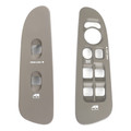 Front Window Switch Bezel Set Fit For Ram 1500 Laramie SLT ST w/ Hemi Sport Package 2500 3500 SLT 2500 3500 ST Crew Cab Pickup 04-05 Taupe