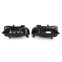 Pair Front Bumper Halogen Fog Light Lamp Fit For AUDI S4 A4 S-Line 13-15 Black