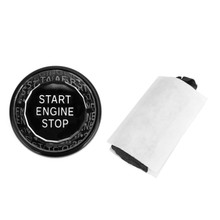 Engine Start Stop Push Button Knob Switch Decor Cover Fit For Jaguar XF XE F-Pace Black