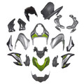 Injection Plastic Bodywork Fairing Fit for Kawasaki Z900 (2017-2019) Silver Green