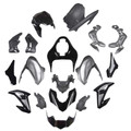 Fairing Kit Fits for Kawasaki Z900 (2017-2019) Silver Black