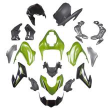 Fairing Kit Fits for Kawasaki Z900 (2017-2019) Silver Green