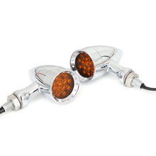 Universal Bullet Turn Signal Light Fit For Most of Motorcycle Chrome
