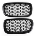 Meteor Black Front Kidney Grille Grill Fit for BMW X5 F15 14-16