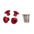 Front Fender Frame Slider Screw Bolt 6mm Fit for KAWASAKI H2/SX 16-20 YAMAHA YZF-R6 YZF-R1 99-20 Red