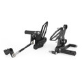 Adjustable CNC Rider Rear Set Rearsets Footrest Foot Rest Pegs Fit for Kawasaki Ninja EX250P EX400 18-20 Titantum