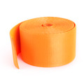 Car Seat Belt Webbing Polyester Seat Lap Retractable Nylon Safety Strap 3.5M Orange