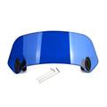 Universal Plastic Scooter Motorcycle Motorbike Front Windscreen Windshield Blue