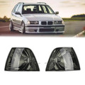 Smoke Corner Lights Parking Lamps PAIR Fits For BMW 3-Series E36 4DR 92-98 Smoke