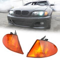 Amber Corner Lights Parking Lamps Pair Fits For BMW 3 Series E46 98-01 Amber