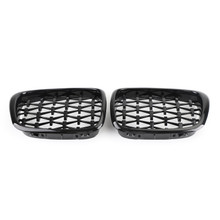 Meteor Black Front Kidney Grill Mesh Grille Fit For BMW E39 5 Series 95-03