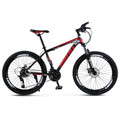"21 Speed 26""  Adult Mountain Bike Aluminum Alloy Carbon Steel Bicycle Disc Bicycles Red+Black"