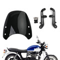 Windshield Fit for Triumph Bonneville 01-17 T100 03-17 Black