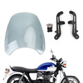 Windshield Fit for Triumph Bonneville 01-17 T100 03-17 Gray