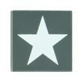 2x2 Allied Star Tile - Dark Gray