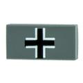 1x2 Balkenkreuz Tile - Dark Gray